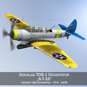 3d douglas tdb-1 devastator - model