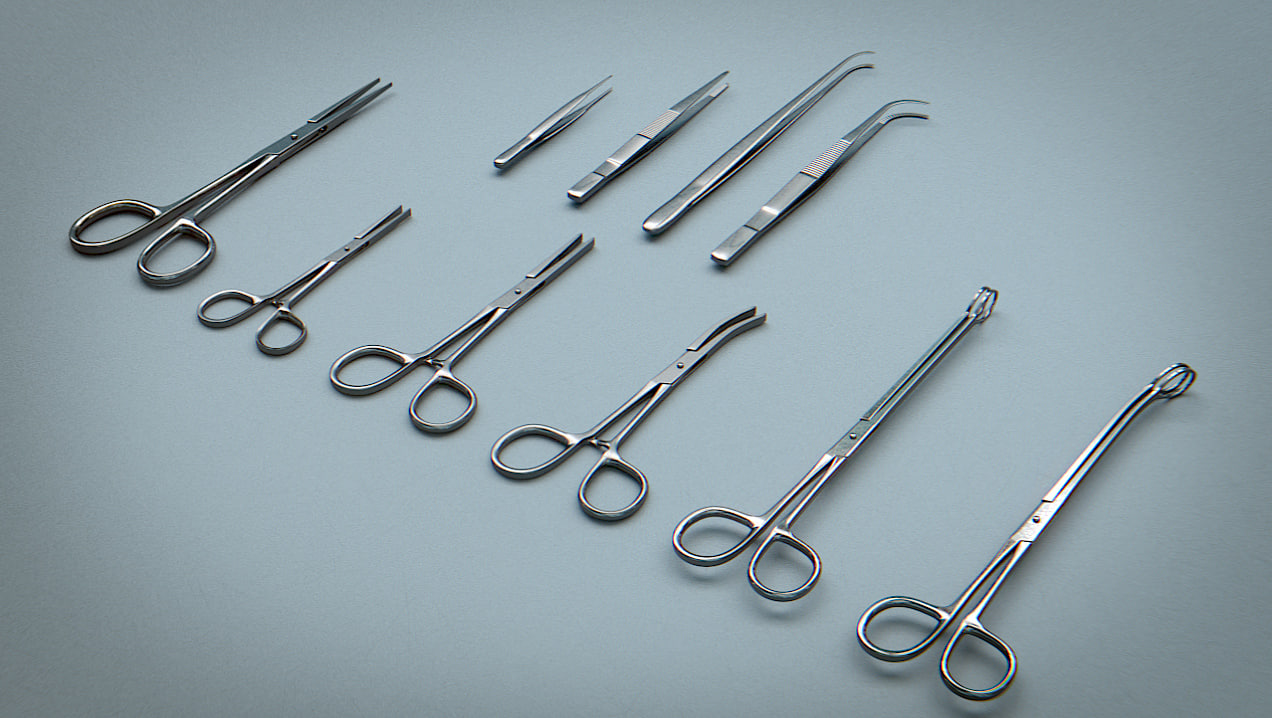 forceps tweezers - medical 3ds