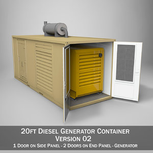 3ds 20ft generator container version