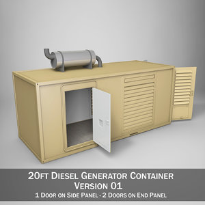 20ft generator container 3d model