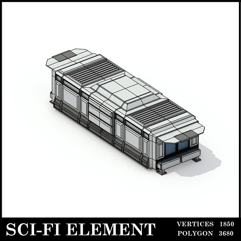 3d model lowpolygon scifi element