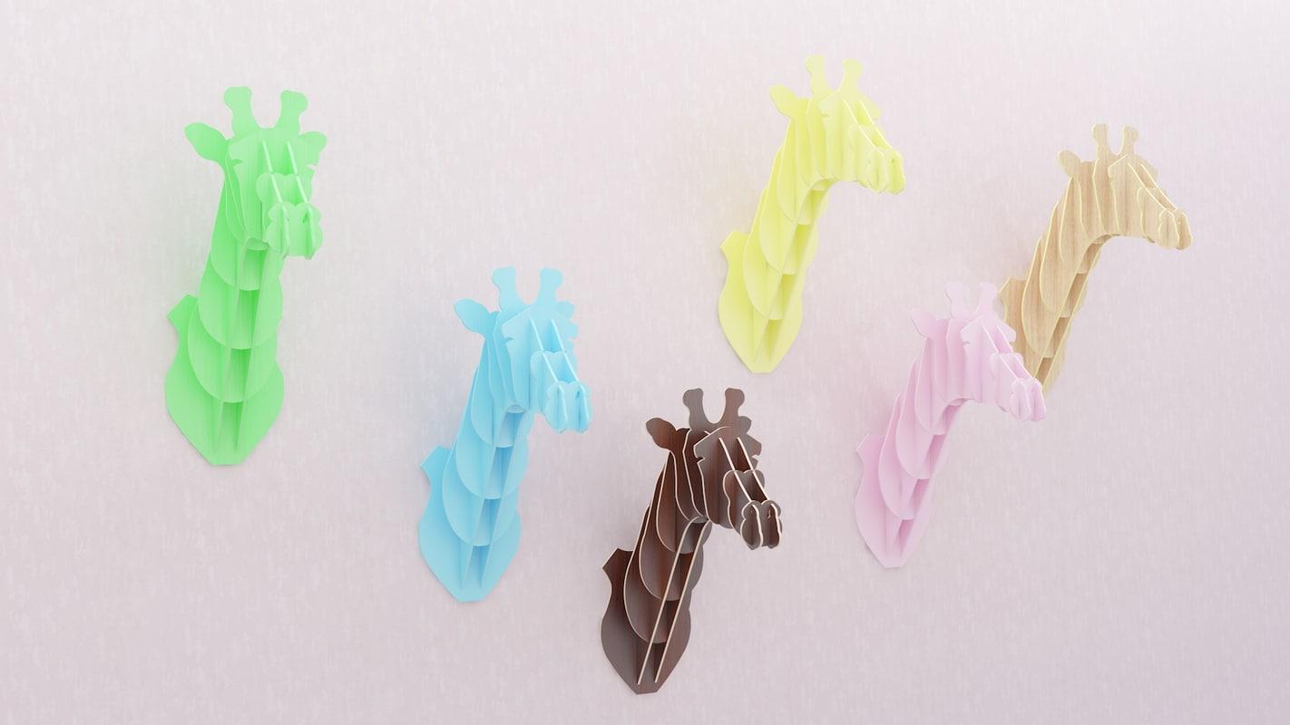 3d model giraffe cnc laser