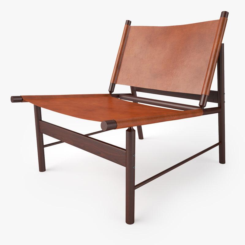 3d jorge zalszupin pair lounge chair
