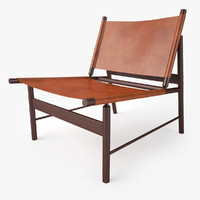 3d jorge zalszupin pair lounge chair model