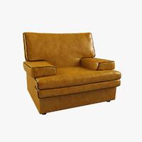 3d modern yellow armchair