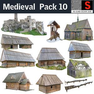 medieval pack 10 3D model