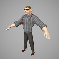 character rigged 3d ma
