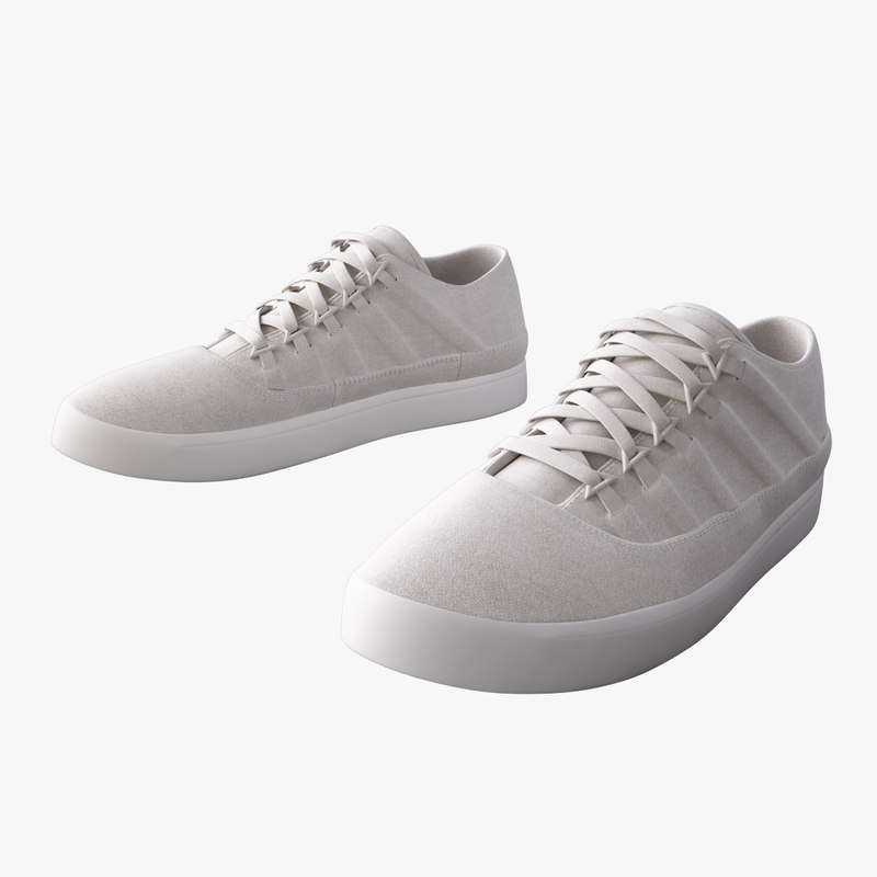 sneakers canvas leather 3d model