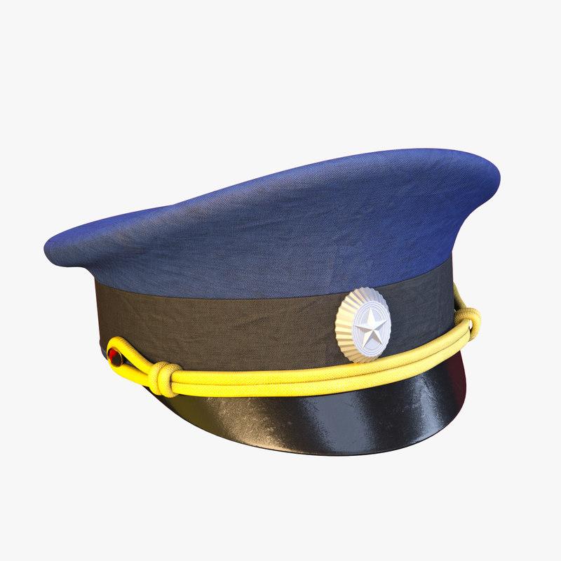russian cap 3d model