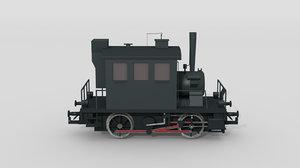 obj austrian steam locomotive