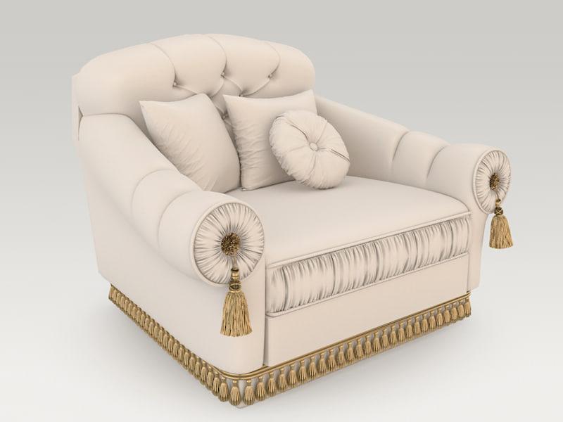 livingroom armchair 5 3d model