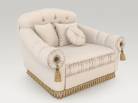 livingroom armchair 5 3d model