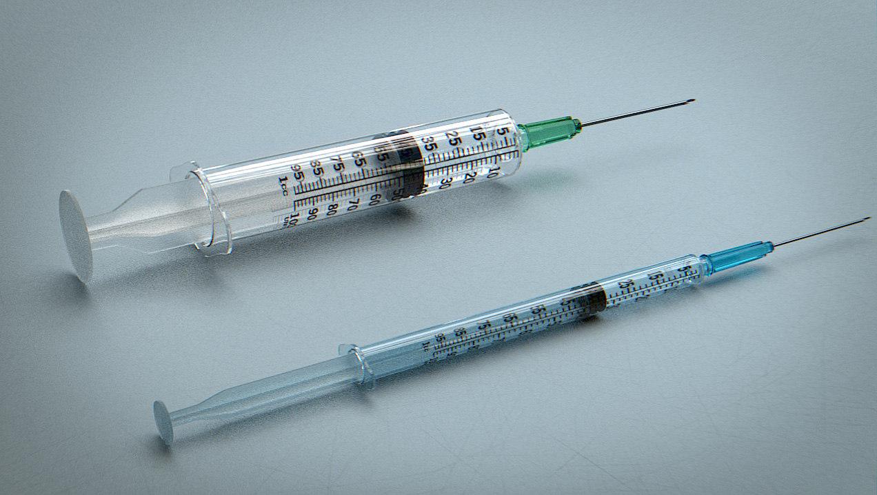 syringes - 3d 3ds