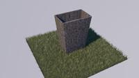 Stone Trash Bin