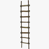 wooden ladder 3d 3ds