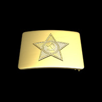 soviet belt buckle 3d 3ds