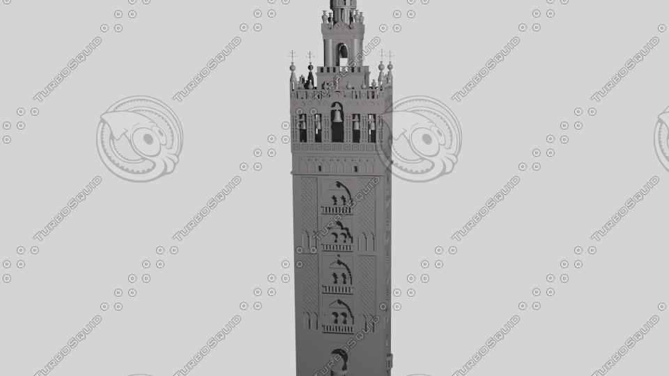 3d model seville cathedral