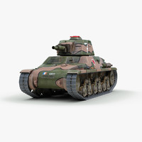 ww2 hotchkiss tank 3d model