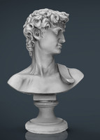 3d model bust michelangelo david