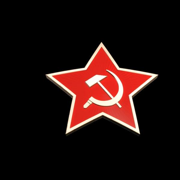 soviet red star max7 3d model