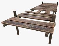wooden pier 3d 3ds