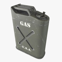 3d model gasoline canister