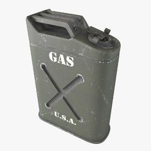 3d model gasoline canister