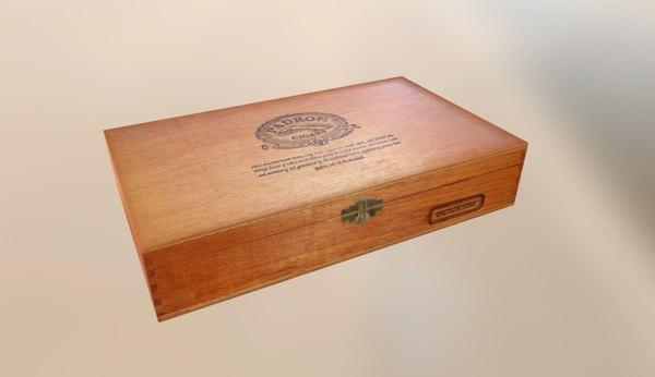 3d padron cigar box