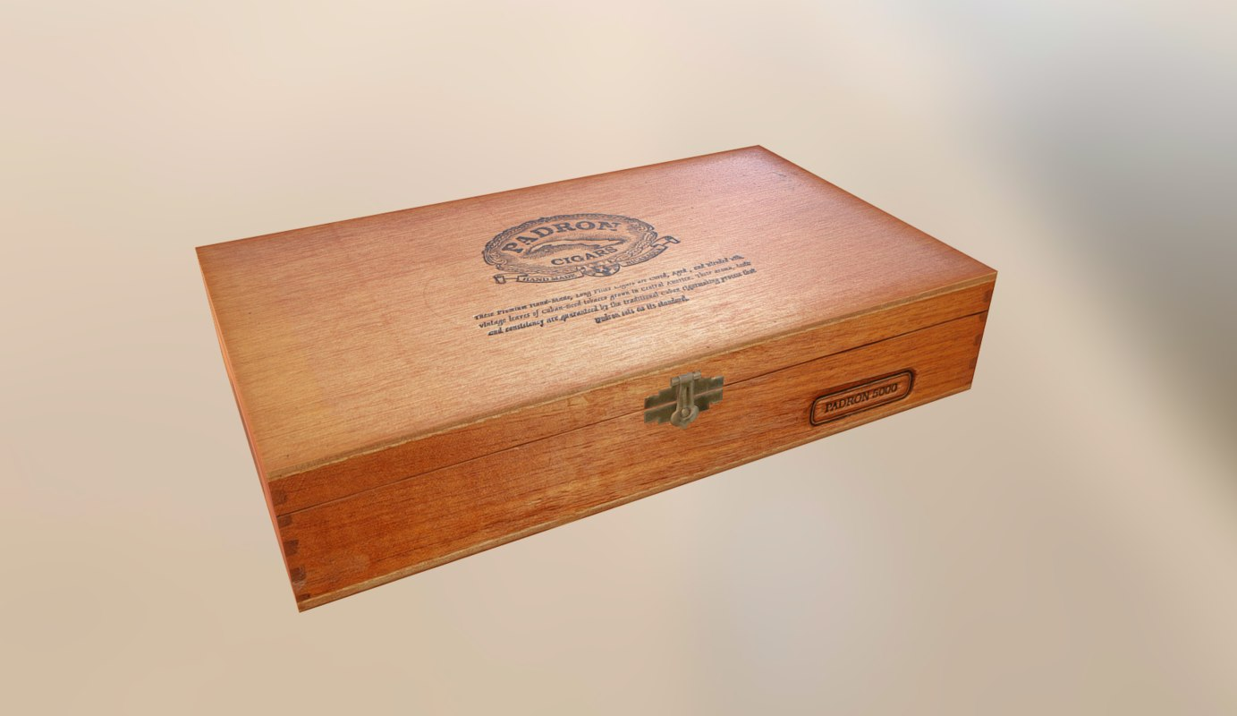 3d padron cigar box