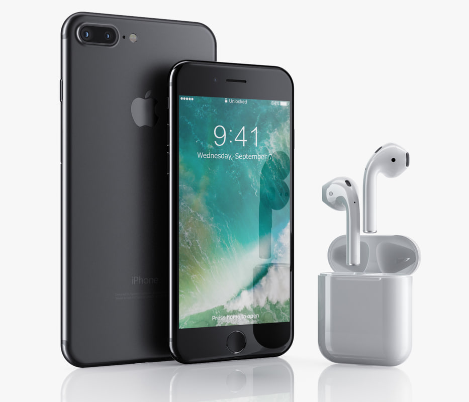 iphone 7 airpods 3d obj