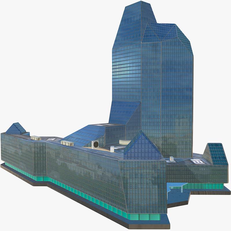 office building 3d fbx