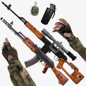 3d model pack grenade fps