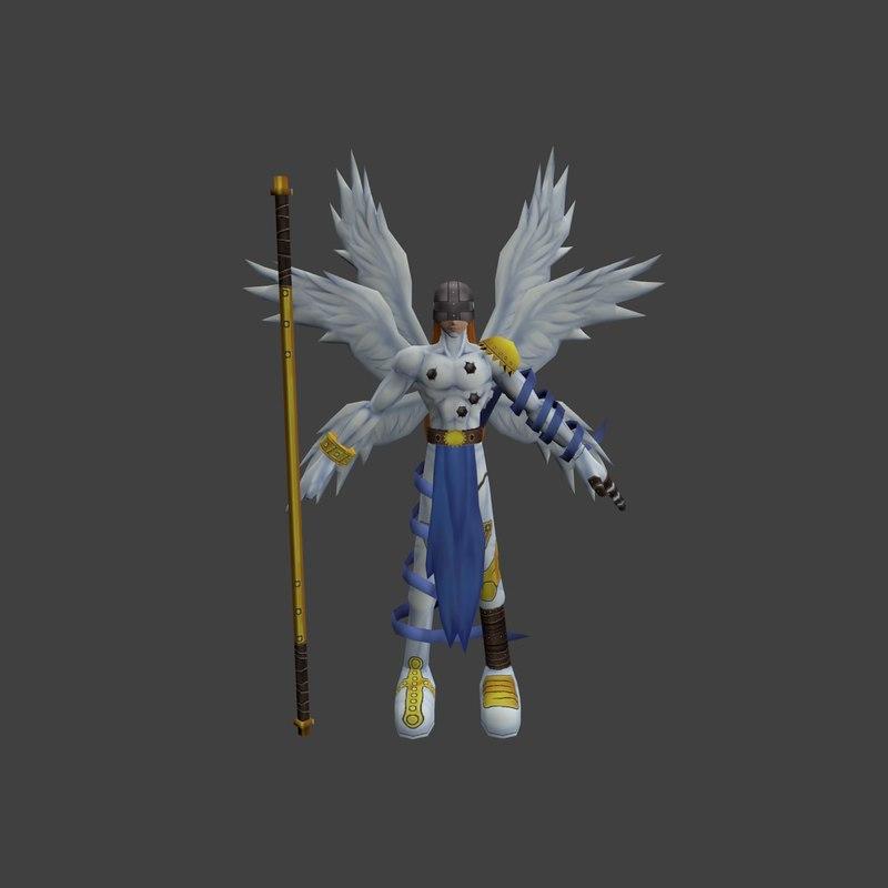 3d angemon charakter