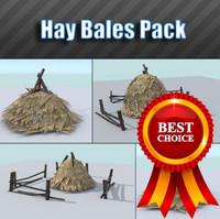 3d model pack hay bale
