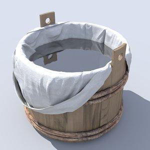 medieval bathtub 3d obj