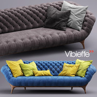 vibieffe victor sofa 3d model