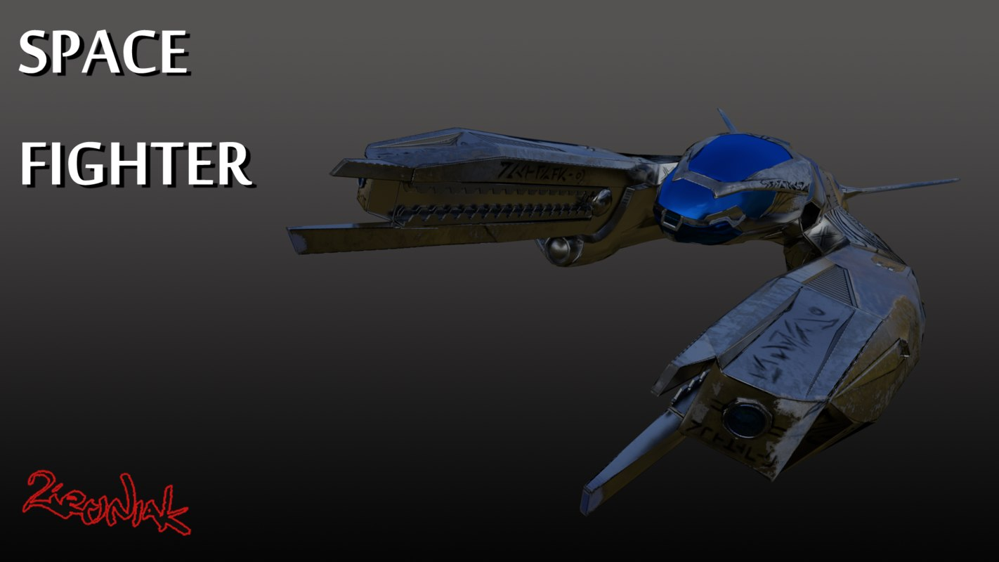 3d model space fighter