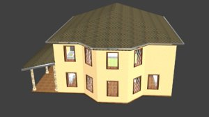 3d model of house ready exterior
