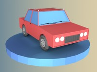 Low Poly Car Model 01