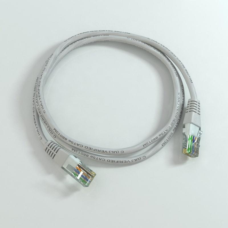 3d model rj45 cable