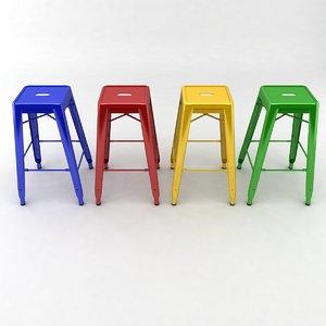 3d model metal stool