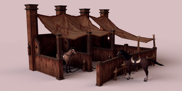 stable horse 3ds