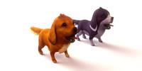 3d model dog blender
