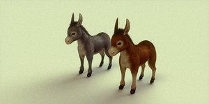donkey blender 3d model