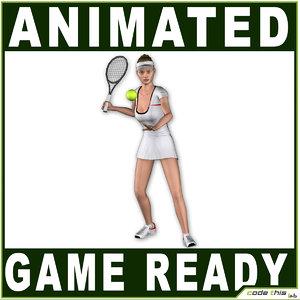3d fbx tennis