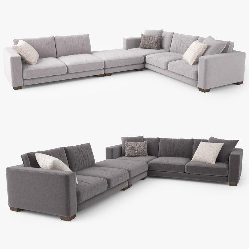 jardan enzo corner sofa 3d model