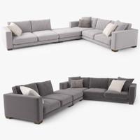 3d jardan enzo corner sofa model