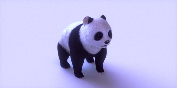 3d panda blender model
