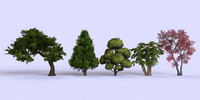 garden tree 3d 3ds