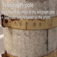 Telegraph-pole (photo + texture)